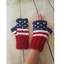 Patriotic fingerless gloves - fingerless gloves - fingerless mittens