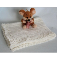 Hand Knitted Soft Baby Blanket