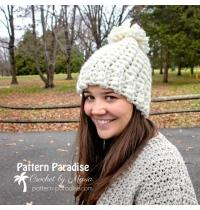 Pom pom hat, beanie hat, handmade crochet