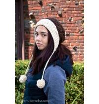 Crochet Pattern Slouchy Hat Beanie Chestnut
