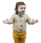 Vintage Knit Baby Merino Wool Irish Jacket Sweater