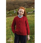 Child's Irish Aran Wool Lumber Cardigan Sweater
