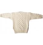 Aran Woollen Mills - Carraig Donn Childs Irish Merino Wool Crew Cut Sweater