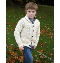 Boys Shawl Cardigan (100% Merino Wool)