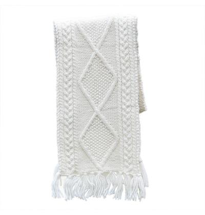 100% Irish Merino Wool Handknitted Aran Scarf