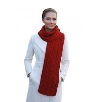 Chunky Aran Merino Wool Knit Scarf