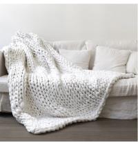 Wool Yarn Knit Blanket