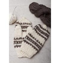 White Woolen Mittens