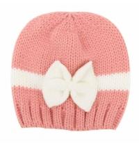 Newborn Baby Boy Girl Knitted Wool Bow Beanie Crochet Winter Warm Hat