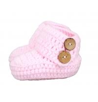 Crochet Baby Booties Newborn Socks Handmade Shoes Deep