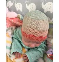 Just Keep Swimming NICU Baby Hat, Preemie Hat Knitting Pattern, Newborn, Baby Hat, Superfine Yarn